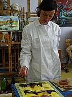 akvarel marie ladrová ateliér praga prima workshop