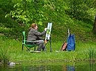 malování v plenéru ateliéru praga prima