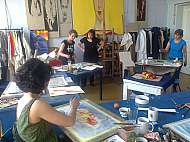 kurz akvarelu Marie Ladrová v ateliéru praga prima