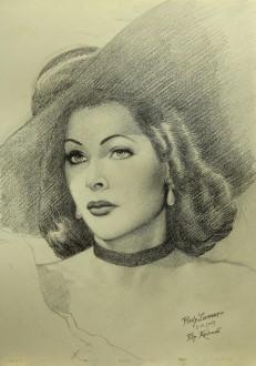 Filip Kudrnáč: Hedy-Lamarr-kresba-tužkou-42x30cm-2013-copy-smaller