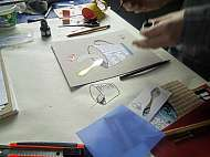 Workshop malba a kolaz Lukas Bradacek