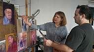 Malba portrétu v ateliéru praga prima s Filipem Kudrnáčem